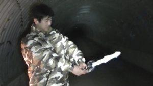 笠間城址にある佐白山トンネルにて武士の霊を挑発する2