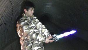 笠間城址の佐白山トンネルにて武士の霊を挑発するサイキック3
