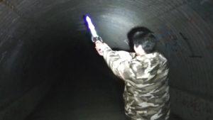 笠間城址の佐白山トンネルにて武士の霊を挑発するサイキック4