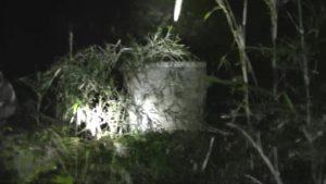 笠間城址にある、貞子のモデルになったという井戸を発見したとき