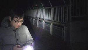 軽井沢大橋で、SNOWを使用し幽霊と顔交換をしようとするサイキック1