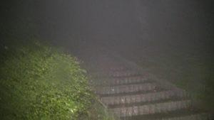 鹿児島県東光山公園でSKTが生放送している時に見つけた階段