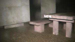 鹿児島県出水市にある東光山公園の展望台1Fのベンチ