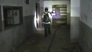 小川脳病院の裏口周辺