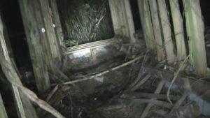 小川脳病院の木造部分の出入り口だった場所