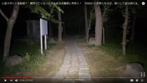 茨城県にある鬼怒川砂丘慰霊塔で生配信している時の遊歩道の映像