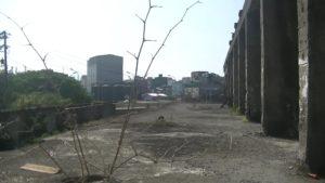 台湾にある造船所廃墟の2階部分