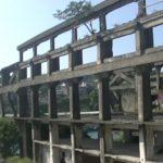 台湾にある造船所廃墟の2階から見た様子
